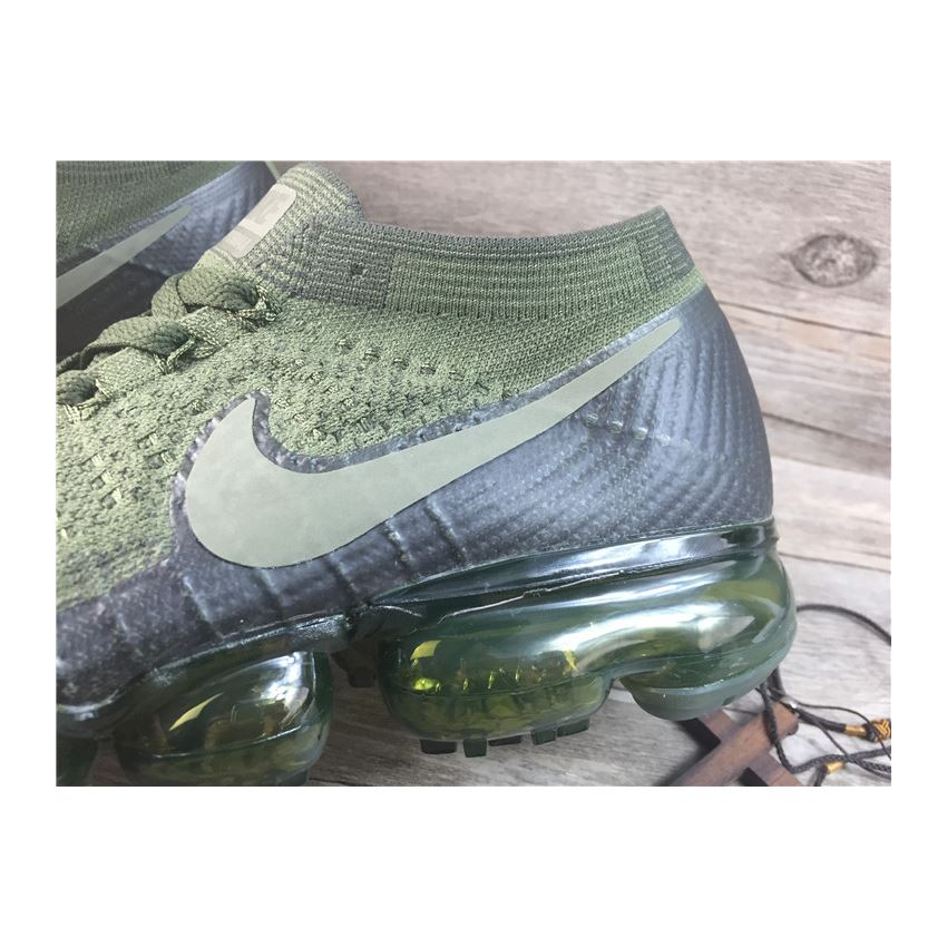 6117478d85 Nike flyknit Air VaporMax 2018 Men's Running Shoes Army green Black ...