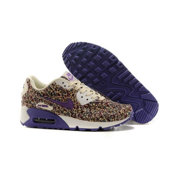 uk availability 5ce7f c50f8 Nike Air Max 90 Womens Shoes Online Light Gray Flower Purple Low Price