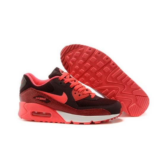 premium selection cf760 5c54a Nike Air Max 90 Womens Shoes 2015 New Releases Black Bright Orange Spain