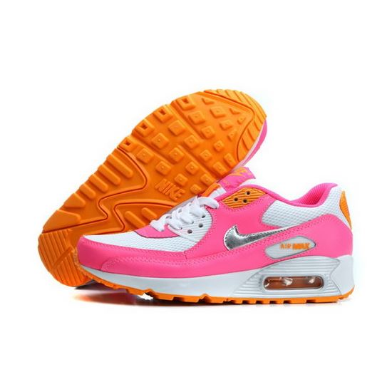 15ace5de38e Nike Air Max 90 Womens Shoes Baby Pink White Silver New Poland