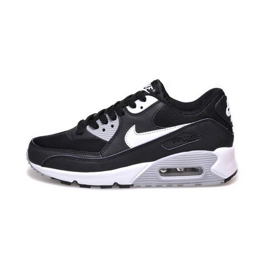 hot sale online 81d1a cc340 Nike Air Max 90 Womens Shoes Hot New Black White Gray ...