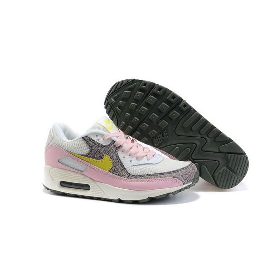 Nike Air Max 90 Womens Shoes Wholesale White Pink Yellow