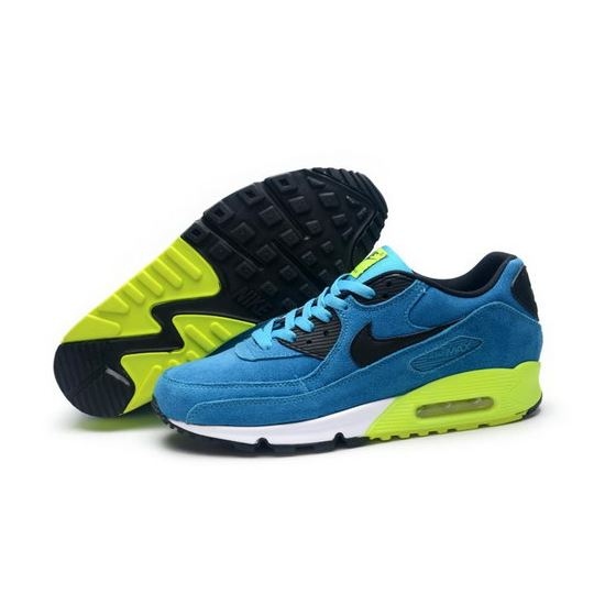 reputable site a3e9e 07e52 Nike Air Max 90 Mens Shoes Hot On Sale Blue Black Green Factory